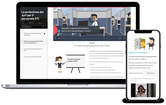 E-Learning La protezione dei dati per il personale