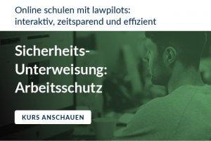 Sicherheitsunterweisung online Arbeitsschutz