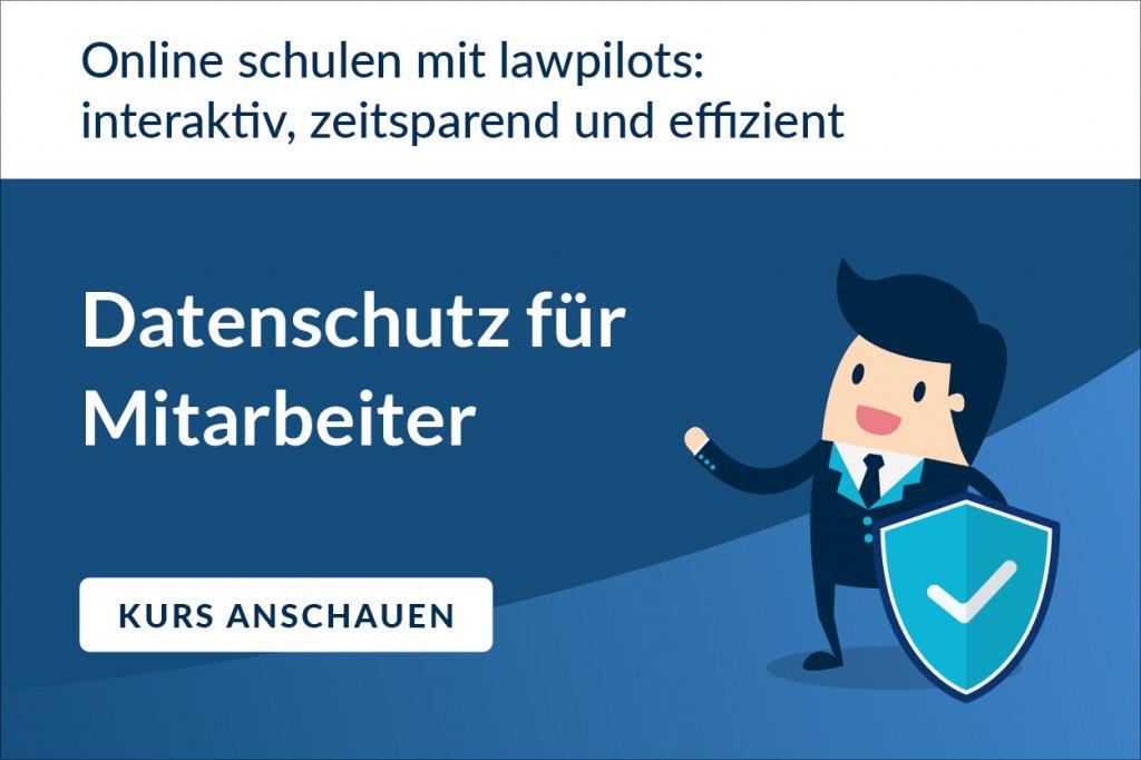 Datenschutz für Mitarbeiter: schulen mit lawpilots
